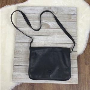 Longchamp Black Leather Shoulder Bag